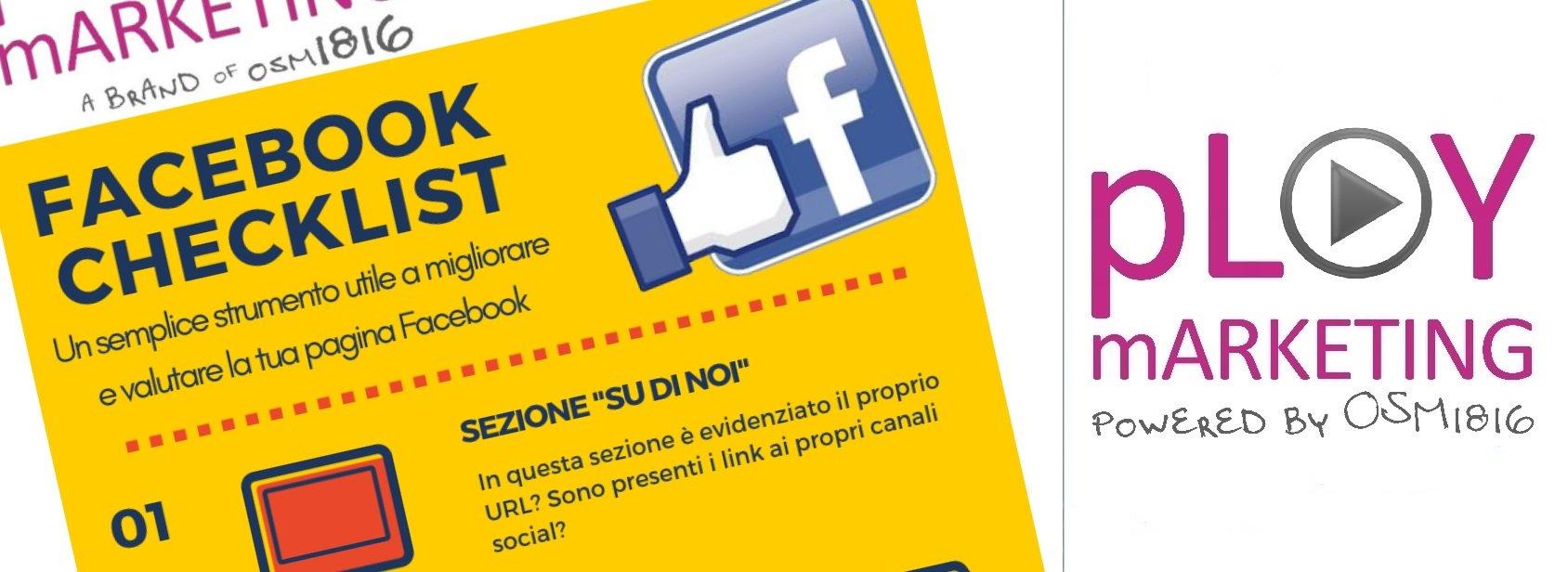 Infografica: La checklist per la tua pagina Facebook