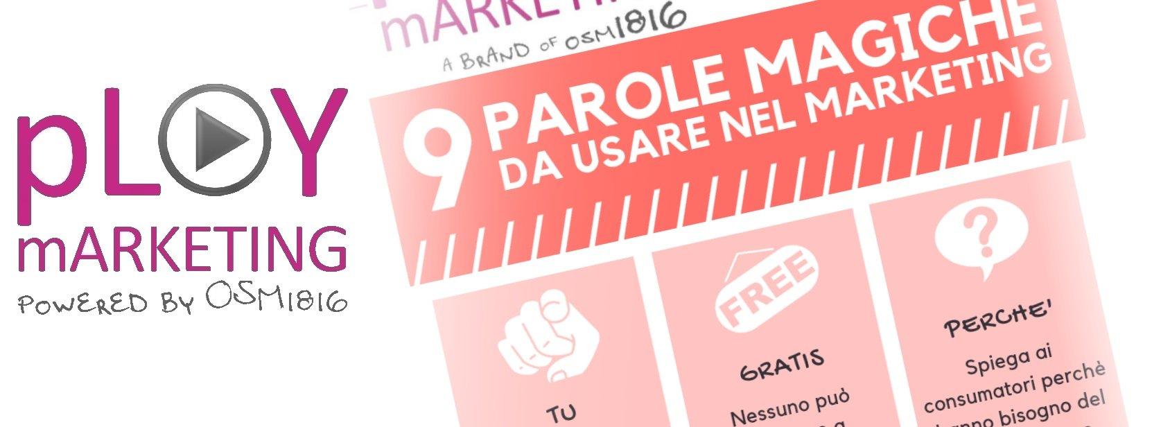 Infografica: 9 parole magiche da usare nel marketing!