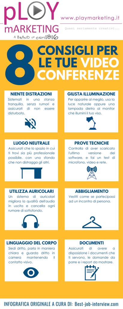 Infografica - 8 consigli per le videoconferenze